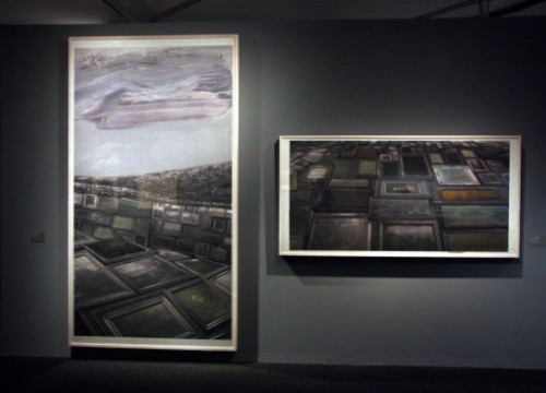 Two of Perejaume's works displayed at La Pedrera's exhibition (by La Pedrera / ACN)