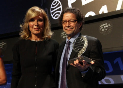 Pilar Eyre and Jorge Zepeda on Wednesday evening, at the Planeta Prize ceremony (by P. Francesch)