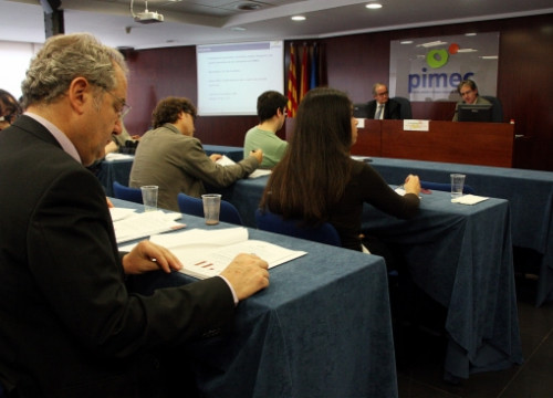 Pimec, Catalonia's main small and medium-sized business association, presented a survey among its members (by M. Amengual)
