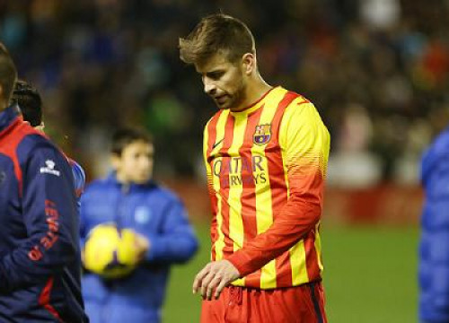 Gerard Piqué scored Barça's only goal against Levante (by FC Barcelona)