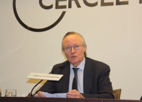 Josep Piqué presenting the report (by J. Molina)