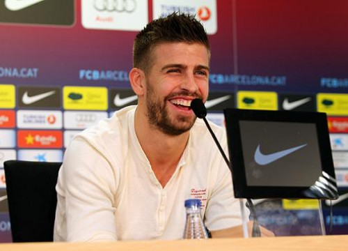 Gerard Piqué talking about the FC Barcelona vs Real Madrid Spanish Cup game at a press conference (by FC Barcelona)