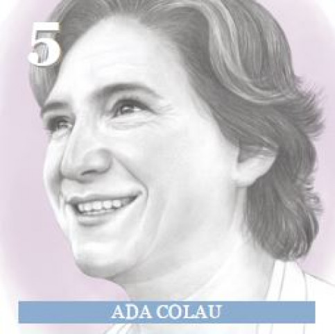 Illustration of Barcelona's Mayor, Ada Colau, made by Denise Nestor for 'Politico' (by Politico)