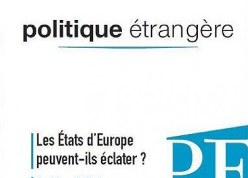 The frontpage of the last edition of 'Politique Étrangère' journal (by IFRI / Polítique Étrangère)