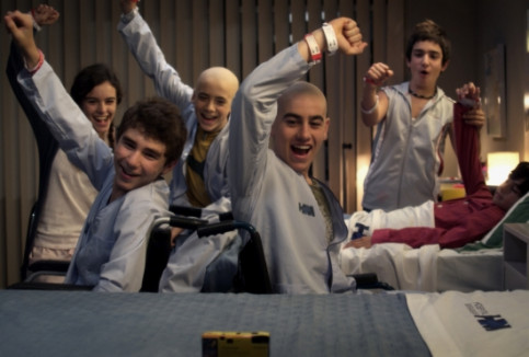 The Catalan series charachters of 'Polseres vermelles', which will be adapted by Spielberg as 'The Red Band Society' (by Filmax)
