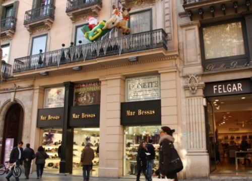 Shops in Barcelona's city centre (by J. Pérez)