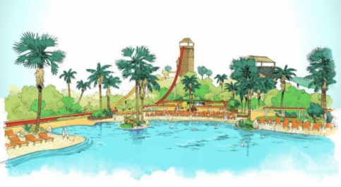 A drawing picturing the enlargement of PortAventura's water park (by PortAventura / ACN)
