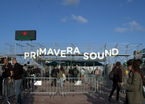 The Primavera Sound Festival's main entrance (by A. Pérez)