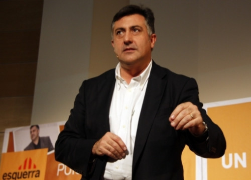 Joan Puigcercós during a campaign speech in Lleida (by ACN)