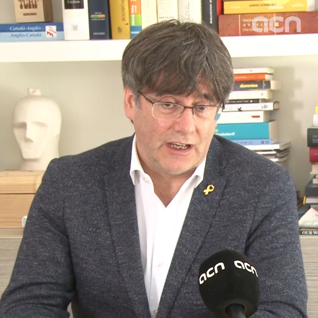 Puigdemont 'disappointed at the 'no reaction' of European institutions' in 2017