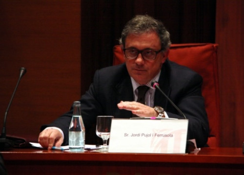 Jordi Pujol Ferrusola at the Catalan Parliament's comission investigating fraud and corruption (by N. Julià)