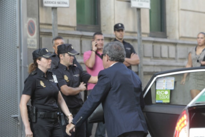 Jordi Pujol Ferrussola, son of the former Catalan President Jordi Pujol, arriving at the Audiencia Nacional (by R. Pi de Cabanyes)