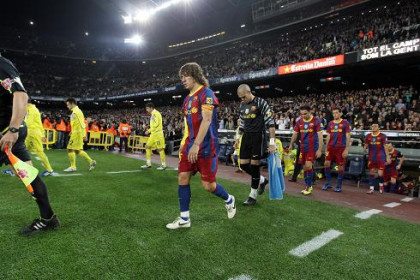Carles Puyol, Barça's captain and historic defender during last game against Villareal (by FC Barcelona)