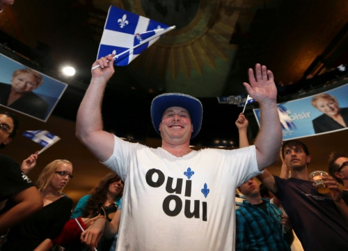 The Parti Québécois, supporting the independence, won the last elections (by Reuters)