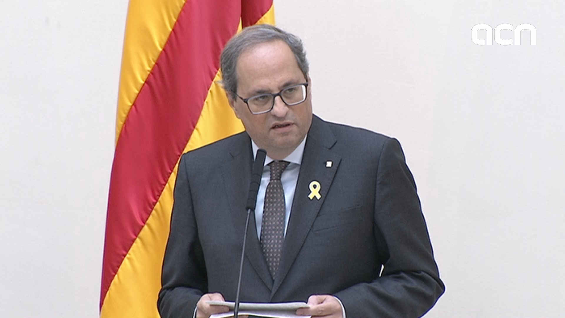 Catalan president reacts to proposed sentences for leaders