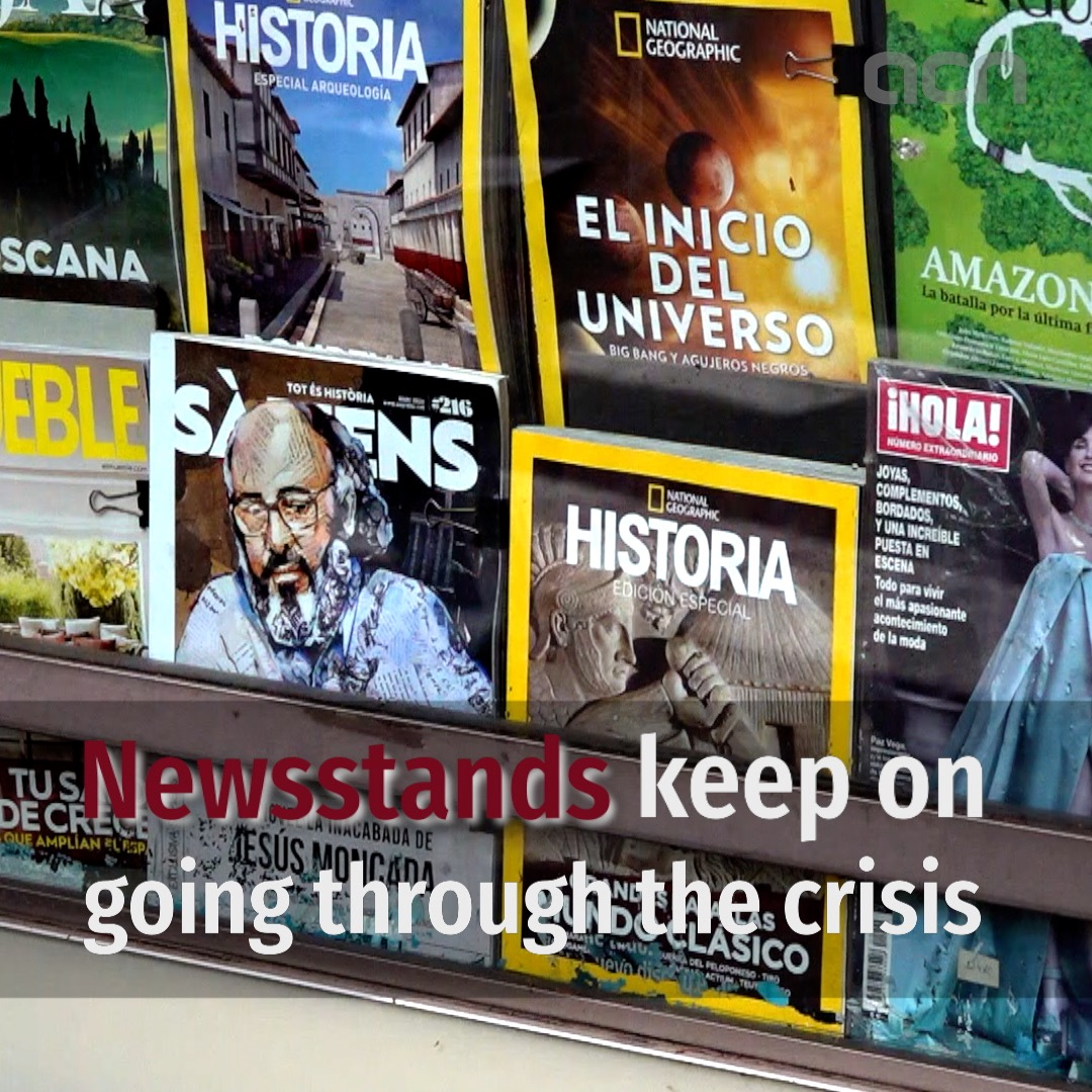 Newsstands keep on going through the crisis