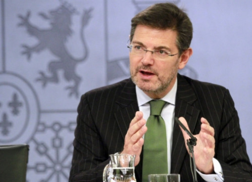 The Spanish Minister for Justice, Rafael Català, a few days ago (by R. Pi de Cabanyes)