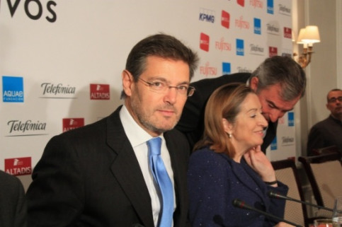 The Spanish Justice Minister, Rafael Català, in Madrid (by R. Pi de Cabanyes)