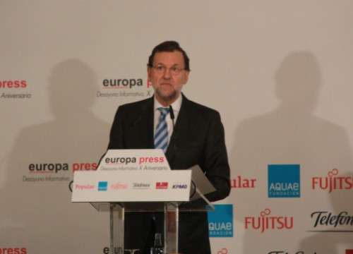 The Spanish PM, Mariano Rajoy, on Monday morning in Madrid (by R. Pi de Cabanyes)