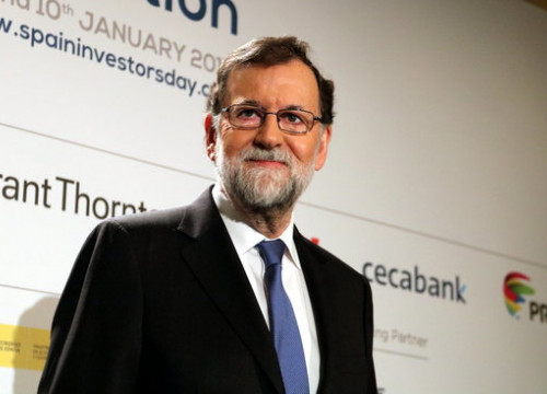 The Spanish president, Mariano Rajoy, in the opening of the Spain Investors Day (by Tània Tàpia)