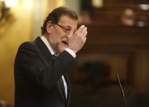 Mariano Rajoy addressing the Spanish Parliament (by Álvaro Hurtado)