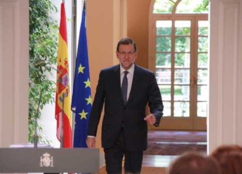 Mariano Rajoy on Friday at La Moncloa Palace (by X. Vallbona)