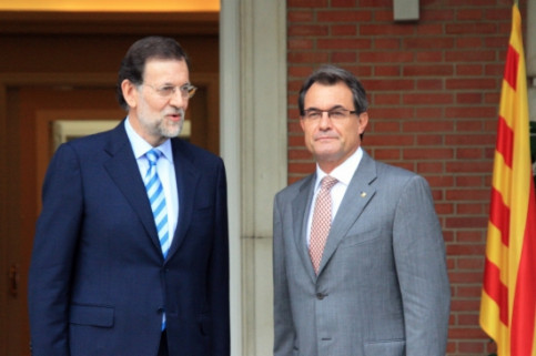 Rajoy (left) and Mas (right) at last September's meeting in Madrid (by ACN)