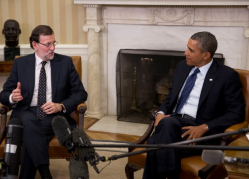 Mariano Rajoy and Barack Obama at the White House on Monday evening (by Moncloa)
