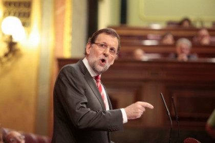 The Spanish PM Mariano Rajoy answering the Catalan Parliament's petition (by G. Sanz)