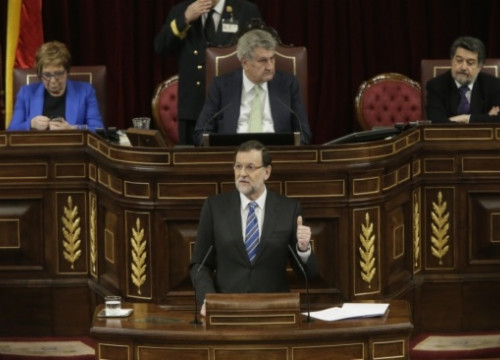 Mariano Rajoy on Tuesday at the Spanish Parliament (by Congreso de los Diputados)