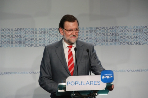 The Spanish Prime Minister, Mariano Rajoy, in a recent press conference (by ACN)