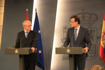 Mariano Rajoy and Herman van Rompuy in la Moncloa's Palace in Madrid (by R. Pi de Cabanyes)