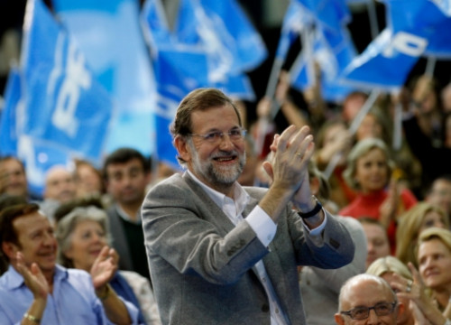 The leader of the People's Party, Mariano Rajoy, in a recent electoral act in Seville (by PP / ACN)