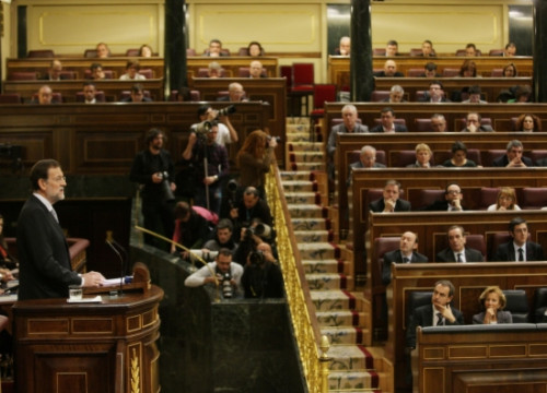 Mariano Rajoy addressing the Spanish Parliament to request its confidence (by Congreso de los Diputados / ACN)
