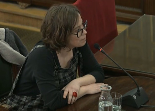 Former MP in Catalan parliament Eulàlia Reguant in Spain's Supreme Court
