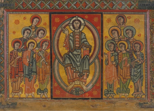 The Altar Frontal of the Apostles, from La Seu d'Urgell (by MNAC)