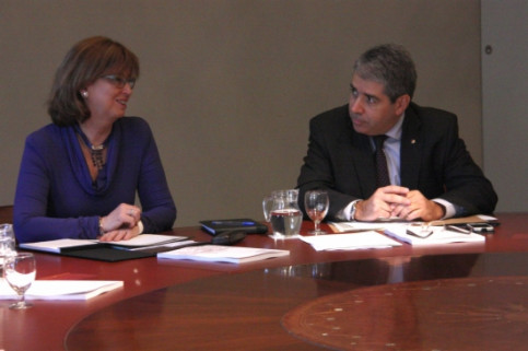 The Catalan Education Minister, Irene Rigau, and the Minister for the Presidency, Francesc Homs (by R. Garrido)