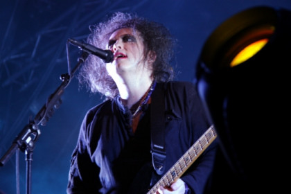 Robert Smith, singer of The Cure, at the 2012 Primavera Sound (by P. Francesch)