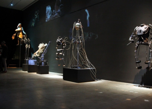 Some of the robotic devices on show (by P. Cortina)