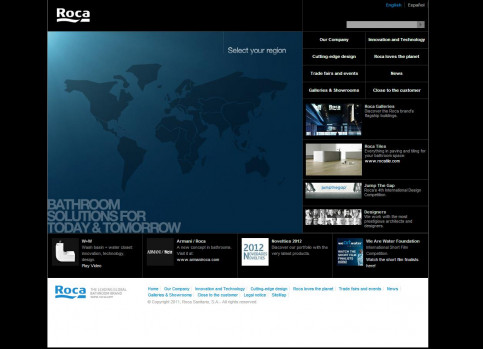 The website of the Roca company (by ACN)