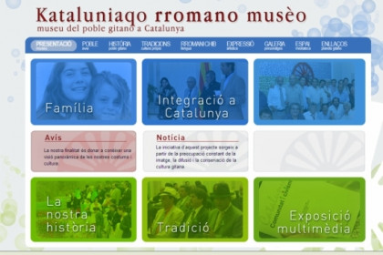A caption of the website of the Museum of the Roma People in Catalonia