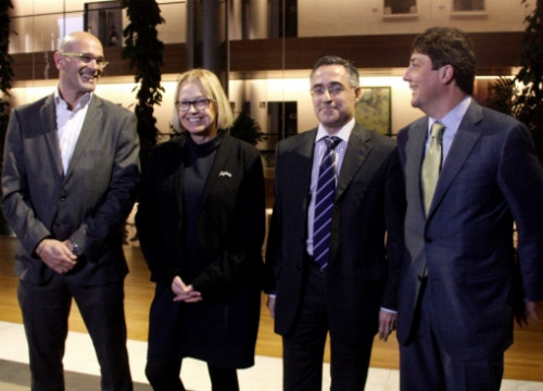 From left to right: Romeva, Badia, Tremosa and Sedó (who did not sign the letter) (by A. Segura)