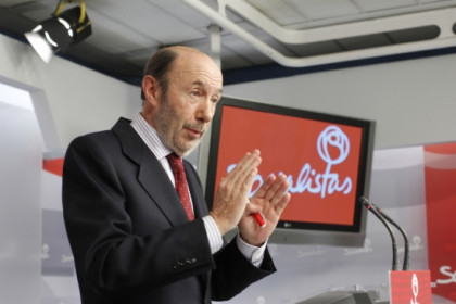 Alfredo Pérez Rubalcaba in a press conference this Friday (by PSOE)