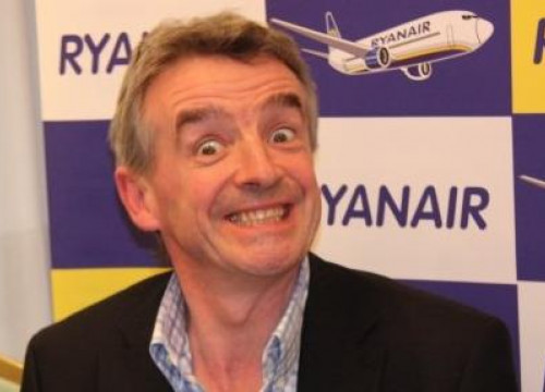 Ryanair's President, Michael O'Leary, in Madrid (by MJ Fidalgo)