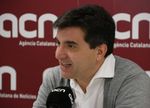The spokesperson for ERC, Sergi Sabrià, during the interview with the Catalan News Agency (by ACN)