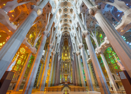 The interior of the Sagrada Família basilica (image from Sagrada Família website)