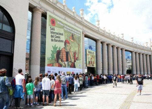 Last year's entrance to Barcelona's Comic Book Fair (by FICOMIC / ACN)