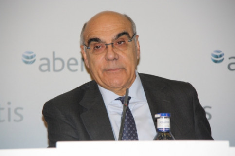 Salvador Alemany, President of Abertis, on Tuesday (by J. Molina)