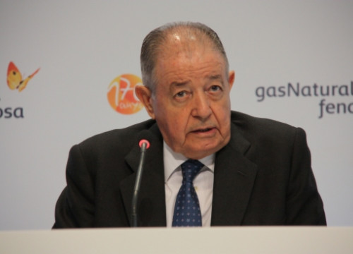 Gas Natural Fenosa's President, Salvador Gabarró, on the last General Meeting of Shareholders (by J. Molina)