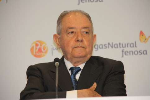 The President of Gas Natural Fenosa, Salvador Gabarró, earlier this year (by ACN)